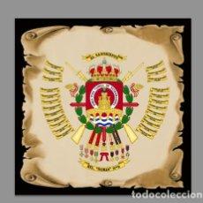 Militaria: AZULEJO 10X10 CON ESCUDO DEL REGIMIENTO DE INFANTERÍA LIGERA SORIA Nº 9 (RIL-9). Lote 110102651