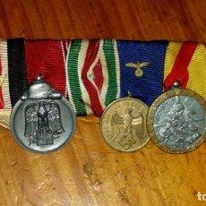 Militaria: PASADOR ALEMAN DE 5 MEDALLAS , 1 PERDIDA. Lote 110212371