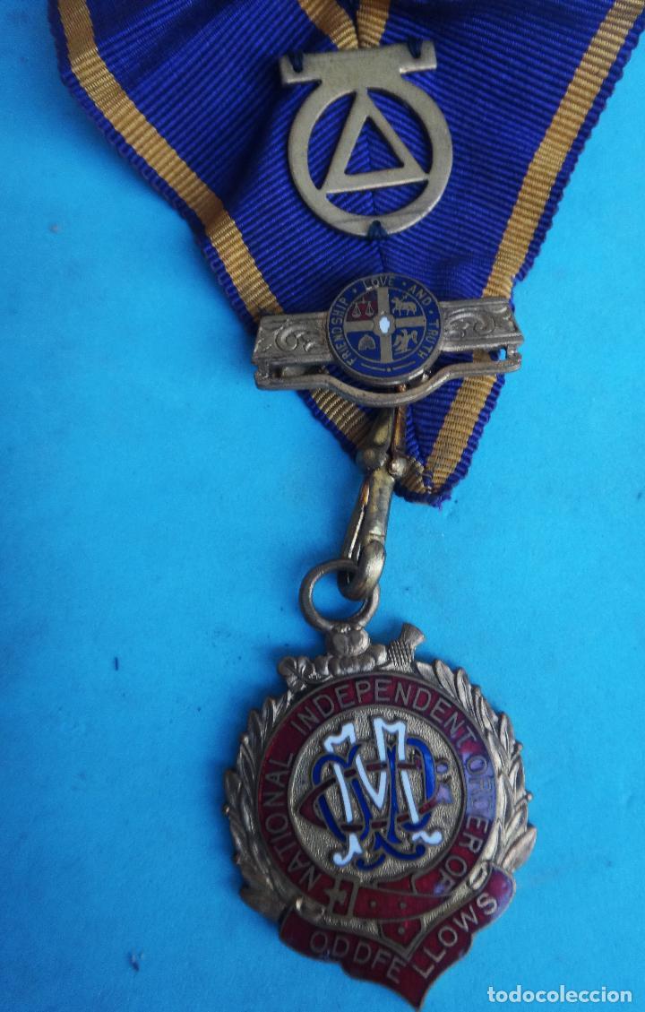 MEDALLA MASONICA MASONERIA MASON , LOGIA , NATIONAL INDEPENDIENT 1902 , ESMALTE , ORIGINAL , B8 (Militar - Medallas Internacionales Originales)