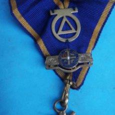 Militaria: MEDALLA MASONICA MASONERIA MASON , LOGIA , NATIONAL INDEPENDIENT 1902 , ESMALTE , ORIGINAL , B8. Lote 110217819