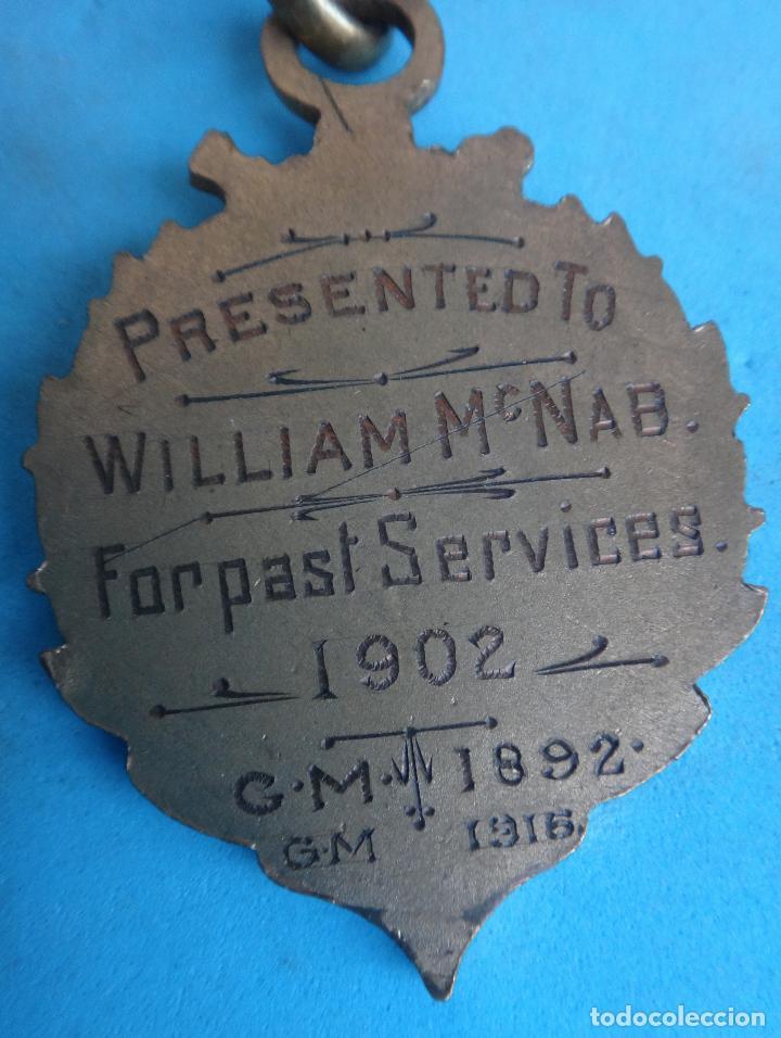 Militaria: MEDALLA MASONICA MASONERIA MASON , LOGIA , NATIONAL INDEPENDIENT 1902 , ESMALTE , ORIGINAL , B8 - Foto 3 - 110217819