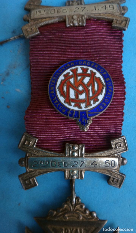 MEDALLA MASONICA MASONERIA MASON , LOGIA, BUFFALOES ROYAL , ESMALTE ,ORIGINAL ,B8 (Militar - Medallas Internacionales Originales)