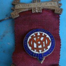 Militaria: MEDALLA MASONICA MASONERIA MASON , LOGIA, BUFFALOES ROYAL , ESMALTE ,ORIGINAL ,B8. Lote 110218515