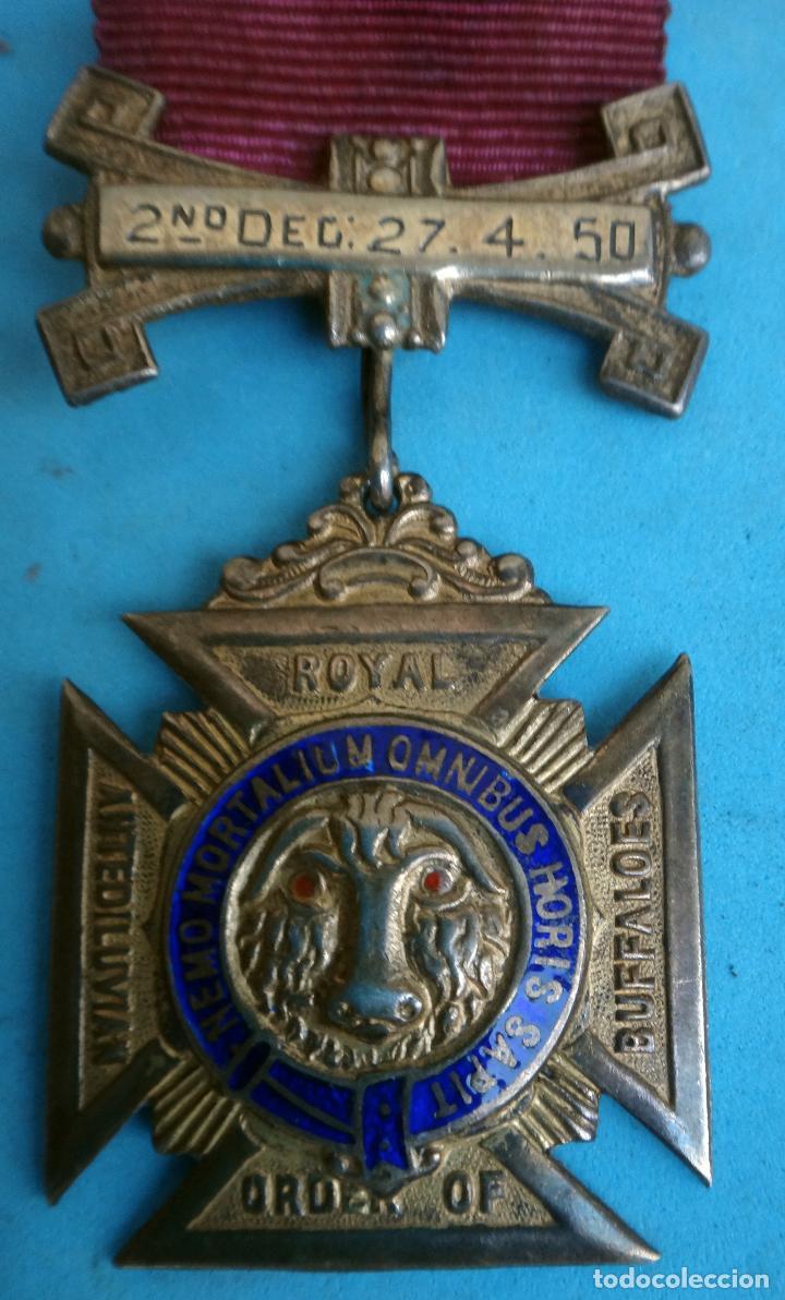 Militaria: MEDALLA MASONICA MASONERIA MASON , LOGIA, BUFFALOES ROYAL , ESMALTE ,ORIGINAL ,B8 - Foto 2 - 110218515