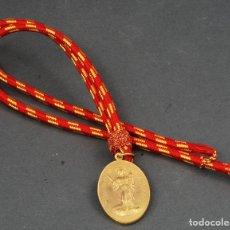 Militaria: MEDALLA BRONCE DORADO CON CORDÓN SANTA BARBARA ARTILLEROS MADRID 1893. Lote 110949703