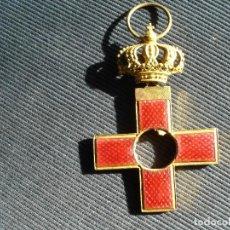 Militaria: MERITO MILITAR, DISTINTIVO ROJO, CASTELLS, SIN ESCUSONES . Lote 111106347