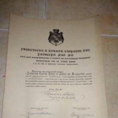 Militaria: DIPLOMA CONCESIO , ORDEN SAN LAZARO JERUSALEM 1940. Lote 111239351
