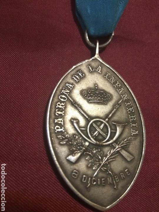 MEDALLA INMACULADA ALFONSO XIII (Militar - Medallas Españolas Originales )