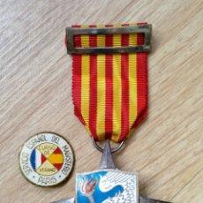 Militaria: ANTIGUAS MEDALLA E INSIGNIA SERVICIOS AL SEM - SEU - FALANGE - SERVICIO ESPAÑOL MAGISTERIO. Lote 111501563