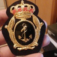 Militaria: PLACA PARA OFICIAL DE GORRA DE PLATO PARA MARINA. Lote 111511023