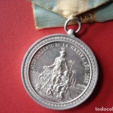 Militaria: MEDALLA DEL AYUNTAMIENTO DE LA HABANA, RECUERDO DEL BLOQUEO 1898 - RARA-. Lote 111871159