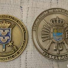 Militaria: MEDALLAS CONMEMORATIVAS:COMANDANCIA GENERAL MELILLA/REGIMIENTO INFANTERIA CANARIAS 50. Lote 115588738