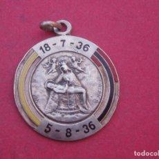 Militaria: ANTIGUA MEDALLA DE PLATA.VIRGEN DE AFRICA 18-7-36/ 5-8-36. GUERRA CIVIL ESPAÑOLA.. Lote 112174991