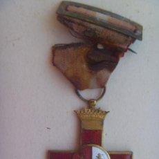Militaria: DIVISION AZUL : MEDALLA DEL CRUZ ROJA DEL MERITO MILITAR DE UN DIVISIONARIO. Lote 112384027