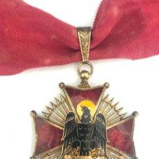 Militaria: MEDALLA ENCOMIENDA ORDEN DE CISNERO PLATA DORADA ÉPOCA FRANQUISTA PERFECTO ESTADO . Lote 112610763