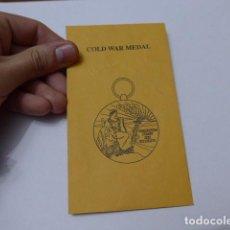 Militaria: * SOBRE DE MEDALLA AMERICANA, COLD WAR MEDAL. ZX. Lote 112641095