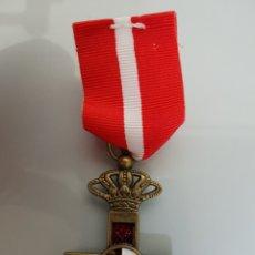 Militaria: MEDALLA CRUZ AL MERITO MILITAR ÉPOCA ALFONSO XIII ESPAÑA EN CAJA ORIGINAL REPLICA. Lote 112741708
