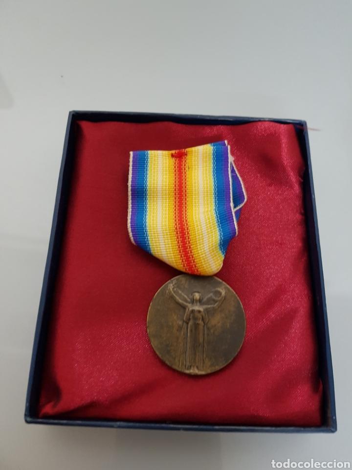 MEDALLA MILITAR FRANCIA LA GRADE GUERRE POUR LA CIVILISATION 1914-1918 EN CAJA ORIGINAL REPLICA (Militar - Reproducciones y Réplicas de Medallas )