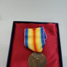 Militaria: MEDALLA MILITAR FRANCIA LA GRADE GUERRE POUR LA CIVILISATION 1914-1918 EN CAJA ORIGINAL REPLICA. Lote 112742518