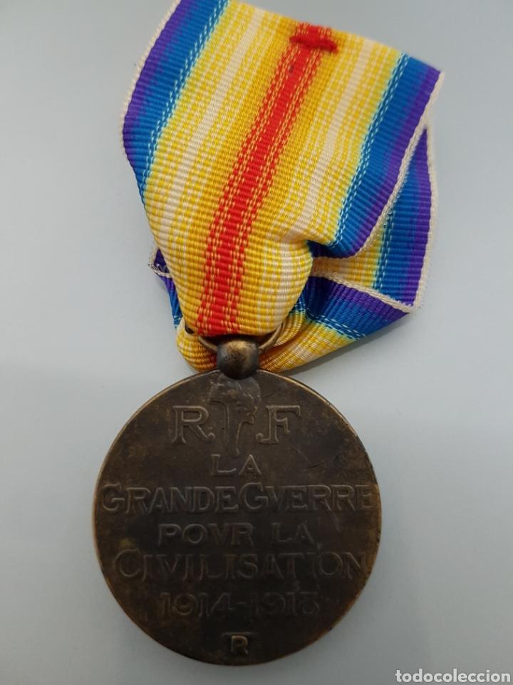 Militaria: MEDALLA MILITAR FRANCIA LA GRADE GUERRE POUR LA CIVILISATION 1914-1918 EN CAJA ORIGINAL REPLICA - Foto 2 - 112742518