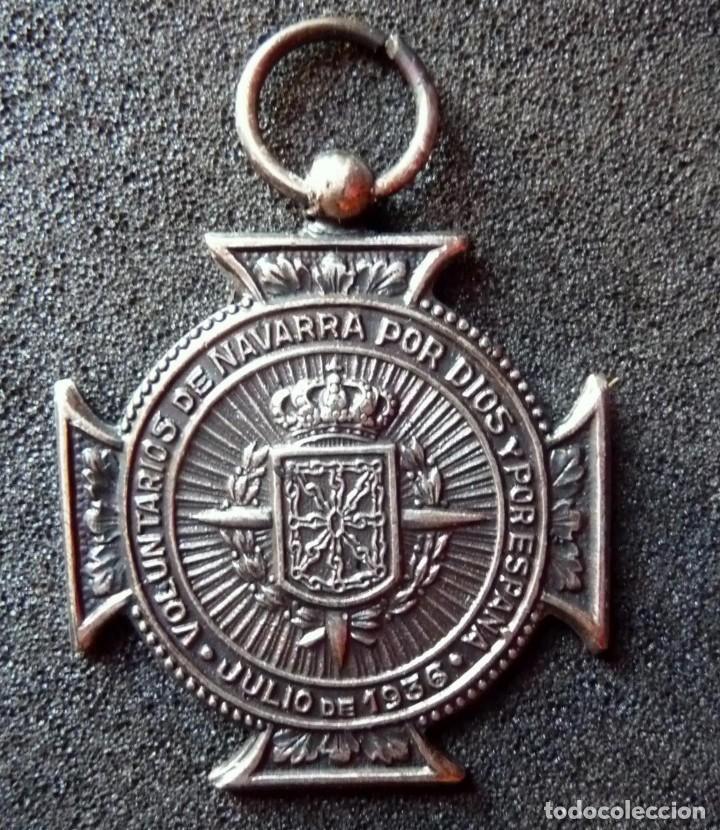 (JX-180237)MEDALLA DE LOS VOLUNTARIOS DE NAVARRA , GUERRA CIVIL . (Militar - Medallas Españolas Originales )