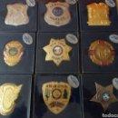 Militaria: LOTE DE PLACAS POLICÍA NORTEAMERICANA - POLICE SECURITY BADGE COLLECTION. Lote 113168086