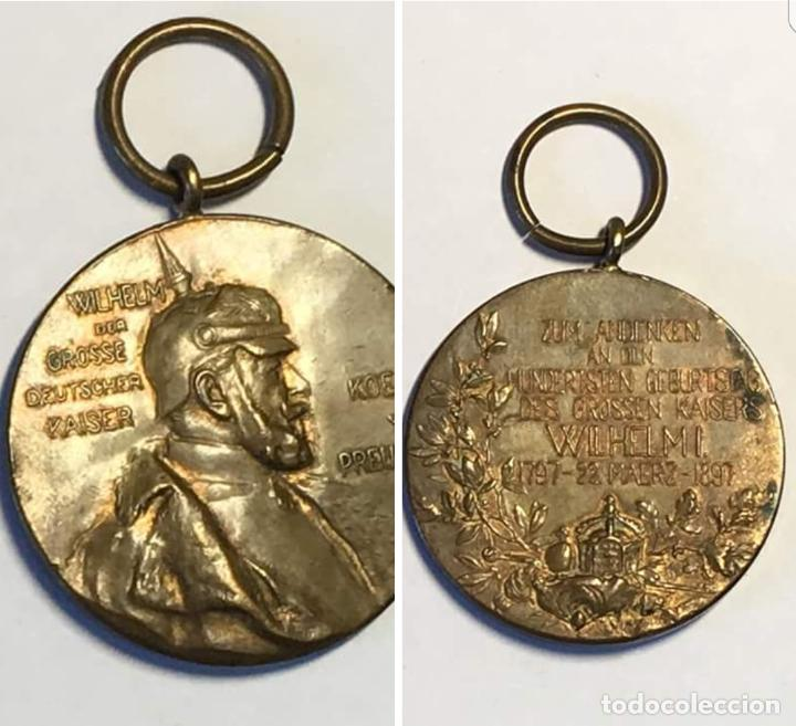 MEDALLA CONMEMORATIVA KAISER GILLERMO I DE PRUSIA ORIGINAL (Militar - Medallas Extranjeras Originales)