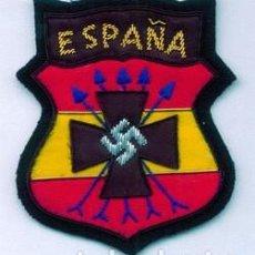 Militaria: PARCHE BRAZO ESPAÑA MADRINA - L (REPRO) DIVISIÓN AZUL. Lote 143675160