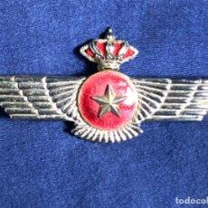 Militaria: AVIACION ESPAÑOLA MILITAR INSIGNIA PECHO ROKISKI TAMAÑO GRANDE CORONA ESTRELLA 9,5X4,7CMS. Lote 114451087