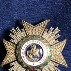 Militaria: GRAN MEDALLA O PLACA MILITAR PREMIO A LA CONSTANCIA MILITAR SAN HERMENEGILDO 6X6CMS. Lote 114451711
