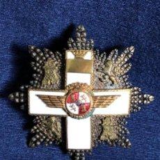 Militaria: AVIACION PLACA MILITAR DE LA GRAN CRUZ DEL MERITO AERONAUTICO FRANCO PLATA ESMALTE 6,5X6,5CMS. Lote 114451587