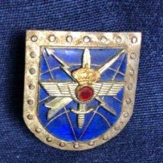Militaria: MEDALLA INSIGNIA PLACA DE PECHO AVIACIÓN ESMALTE AZUL MONARQUIA CORONA 33X28MM. Lote 114451211