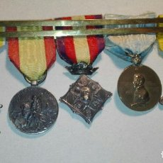 Militaria: BONITO PASADOR CON 5 MEDALLAS DE ÉPOCA ALFONSO XIII . Lote 114524031