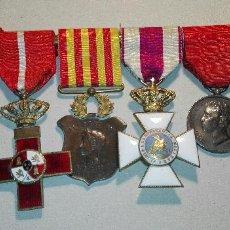 Militaria: BONITO PASADOR CON 6 MEDALLAS DE ÉPOCA ALFONSO XIII . Lote 114526387