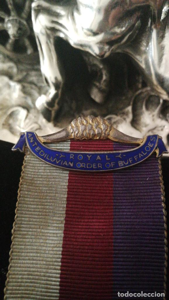 Militaria: MEDALLA MASONICA DE GRAN VALOR.ORDEN DEL BUFALO. - Foto 3 - 114682227