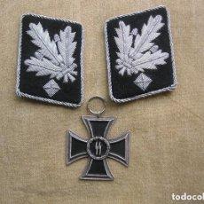 Military - PARCHES DE CUELLO DE GENERAL DE LAS SS-GRUPPENFÜHRER Y CRUZ DE HIERRO WAFFEN SS. - 114728847