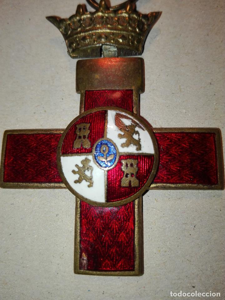 Militaria: Medalla del Merito Militar distintivo Rojo. Epoca de Franco - Foto 2 - 114729519