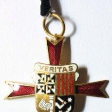 Militaria: ANTIGUA MEDALLA VERITAS MODELO ORO . ESMALTES AL FUEGO. INTACTA. 4'5CM SIN ARGOLLA.. Lote 114744303