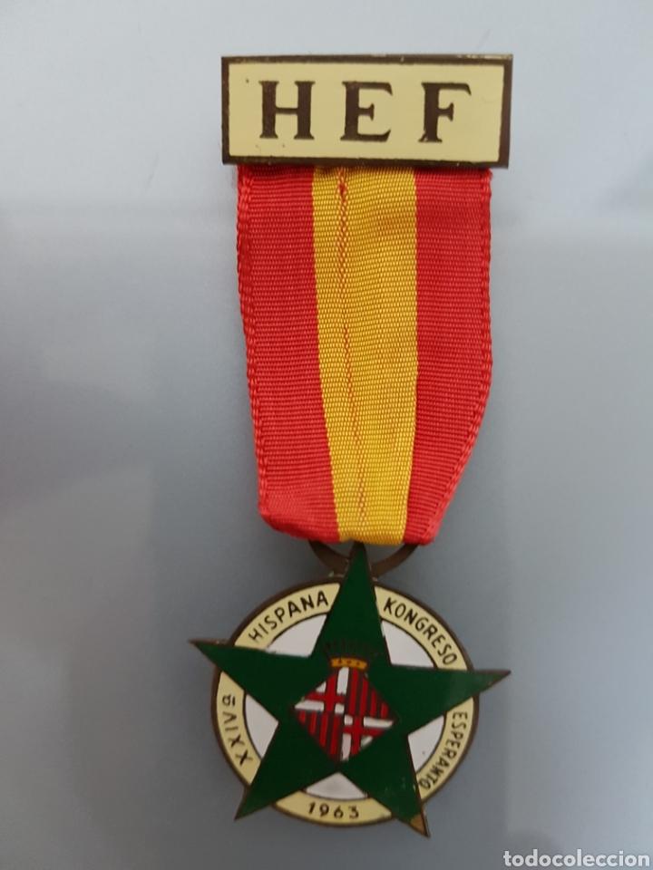 ANTIGUA MEDALLA XXIV KONGRESO ESPERANTO 1963 HEF (Militar - Medallas Españolas Originales )