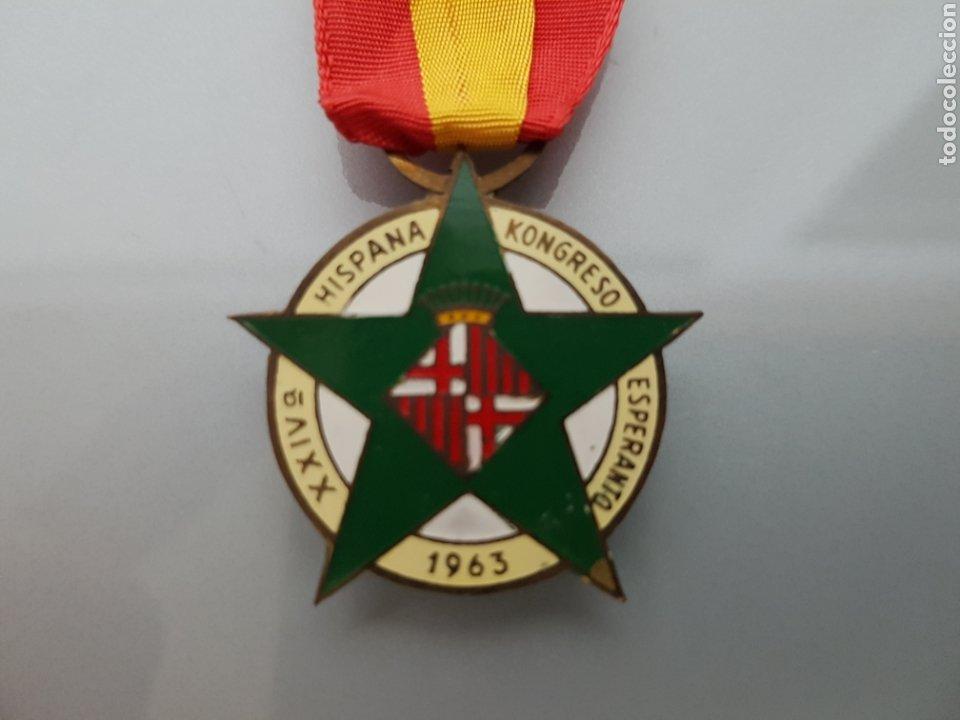 Militaria: ANTIGUA MEDALLA XXIV KONGRESO ESPERANTO 1963 HEF - Foto 3 - 114745535