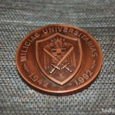 Militaria: MEDALLA 50 ANIVERSARIO DE LAS MILICIAS UNIVERSITARIAS. 1942-1992. BRONCE. FIRMADA Y NUMERADA.. Lote 114781003