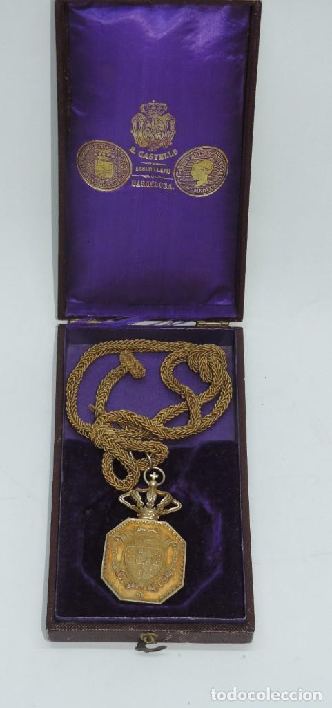 MEDALLA VENERA DE JUSTICIA. ÉPOCA ALFONSO XIII. MEDALLA VENERA PARA IR COLGADA AL CUELLO. REALIZADA (Militar - Medallas Españolas Originales )