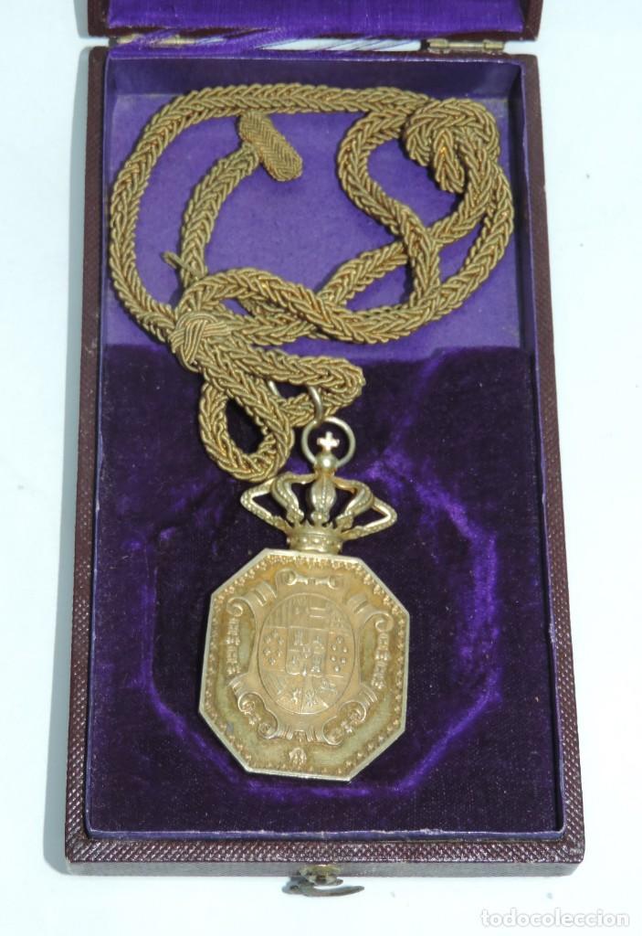 Militaria: Medalla venera de Justicia. Época Alfonso XIII. Medalla venera para ir colgada al cuello. Realizada - Foto 2 - 115184659