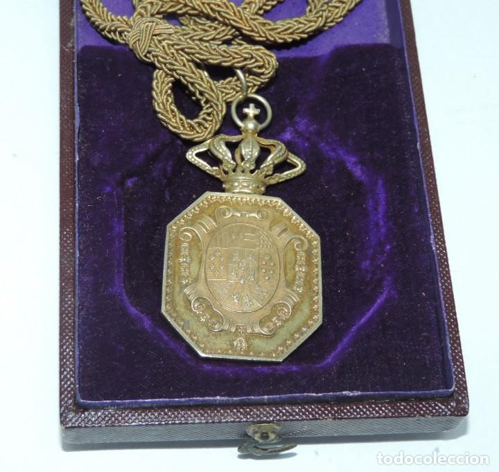 Militaria: Medalla venera de Justicia. Época Alfonso XIII. Medalla venera para ir colgada al cuello. Realizada - Foto 3 - 115184659