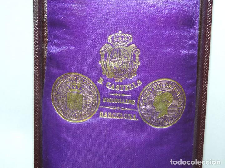 Militaria: Medalla venera de Justicia. Época Alfonso XIII. Medalla venera para ir colgada al cuello. Realizada - Foto 5 - 115184659