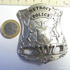 Militaria: PLACA DE POLICIA DETROIT. Lote 115357687
