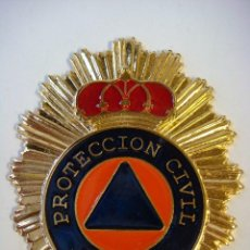 Militaria: CHAPA METALICA PARA CARTERA DE PROTECCION CIVIL ESPAÑA (#). Lote 115418047