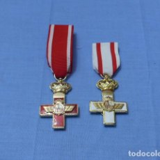 Militaria: * LOTE 2 MEDALLA ESPAÑOLA AL MERITO AEREO, DISTINTAS. ORIGINALES. AVIACION. JUAN CARLOS I. ZX. Lote 115449647
