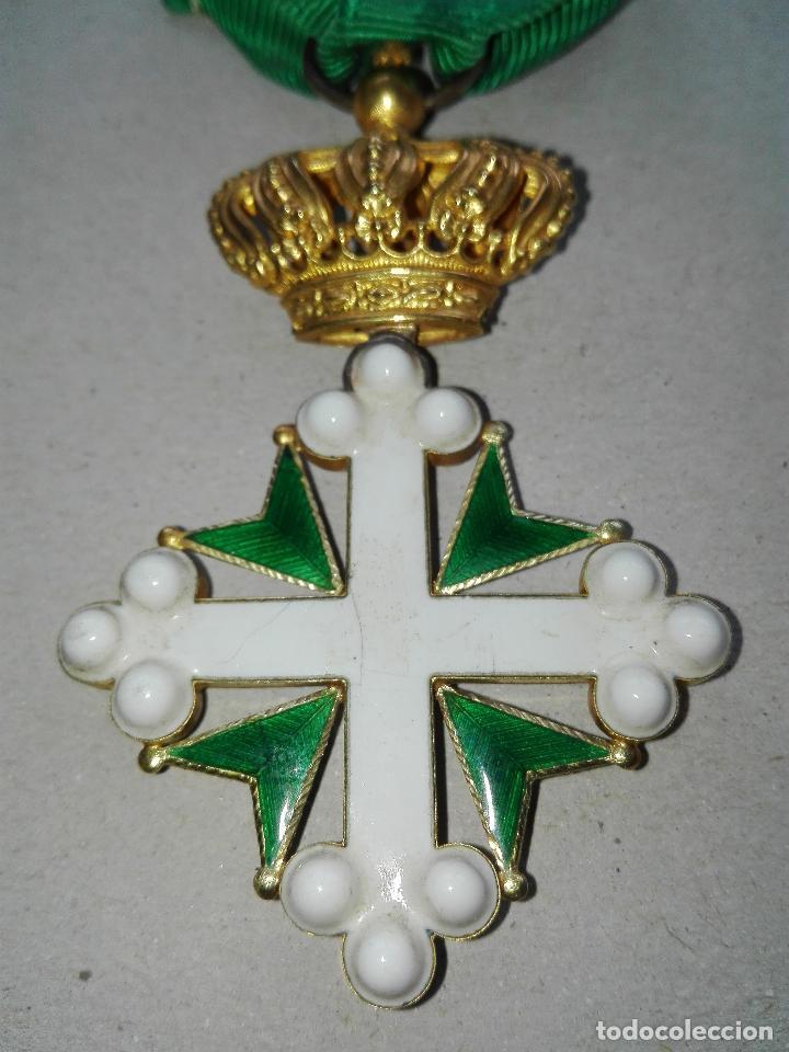 Militaria: Medalla Orden de San Lázaro. Monarquía Italia. Oro. - Foto 2 - 115489823