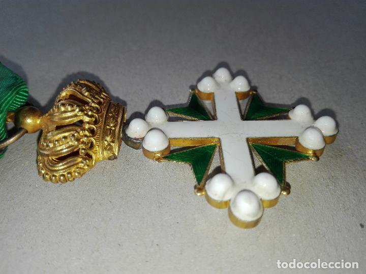 Militaria: Medalla Orden de San Lázaro. Monarquía Italia. Oro. - Foto 3 - 115489823